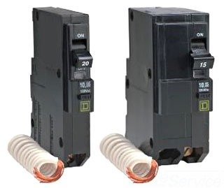 SCHNEIDER ELECTRIC Miniature Circuit Breaker 120/240-Volt 20-Amp QOB220EPD Molded Case 600V 150A