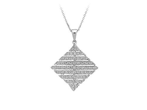 Pendentif En Diamant-Femme- or Blanc 204P0006