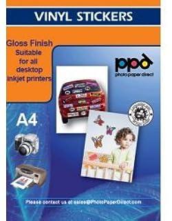 Amazon.com : LD © Glossy Inkjet Photo Sticker Paper (8.5X11) 100 ...