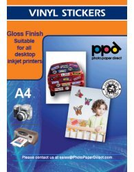 PPD LTR 8.5 x 11' Inkjet Gloss Vinyl Self Adhesive Sticker Paper X20 Sheets