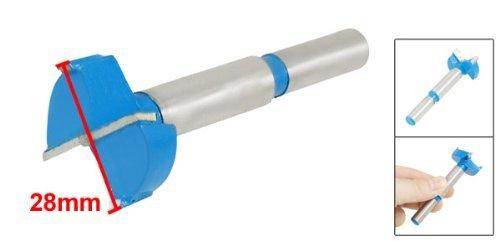 eDealMax 28 mm Diámetro Forstner Consejo Bisagra herramienta del taladro poco aburrido para Carpintería Azul Gris - - Amazon.com