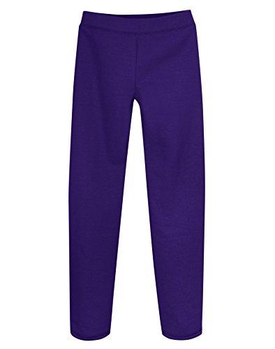 Hanes Girls' Fleece Open Bottom Sweatpants (XS)