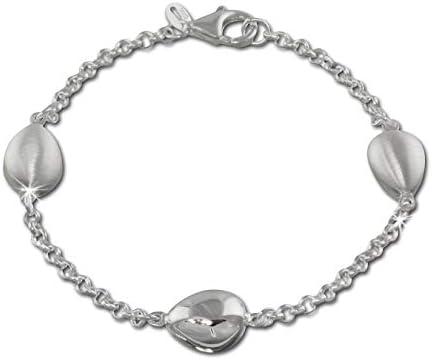 SilberDream Armband Tropfen 925 Sterling Silber matt 19cm Karabiner D2SDA416 ein schönes Geschenk zu Weihnachten, Geburtstag, Valentinstag für die Frau