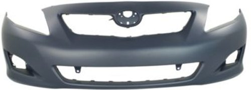 Crash Parts Plus Primed Front Bumper Cover Replacement for 2009-2010 Toyota Corolla (Replacement Front Cover Bumper)