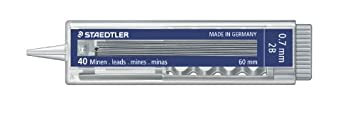 Staedtler 0.5mm, durezza HB carbonio (confezione da 40) 0,5 mm Grey 376449