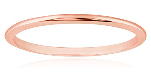 (1mm Thin 14k Rose Gold Wedding Band Ring, Size 6 )