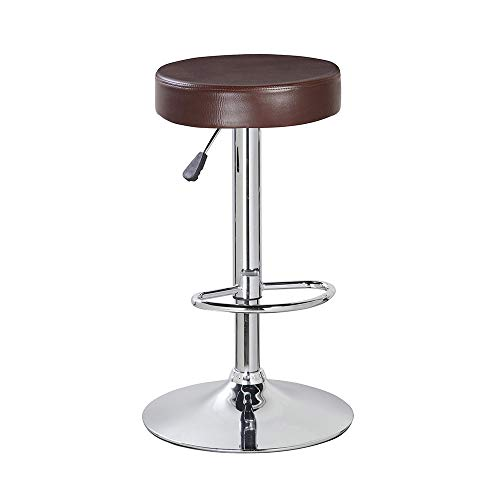 KERLAND Round Breakfast Bar Stools Backless Kitchen Counter Height Indoor Bar Stool Set 30 Inch Set of 2 Brown