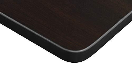 Kobe 84'' Flip Top Mobile Training Table- Mocha Walnut by Regency Seating (Image #3)
