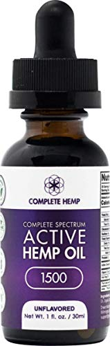 Complete Hemp Complete Spectrum Active Hemp Oil 1,500 | Organic and Clean | Can Support Stress, Anxiety, Inflammation, Pain and More | Super-Critical CO2 Hemp Extract | 3rd Party ISO Tested | 50mg/mL by Complete Hemp (Image #4)