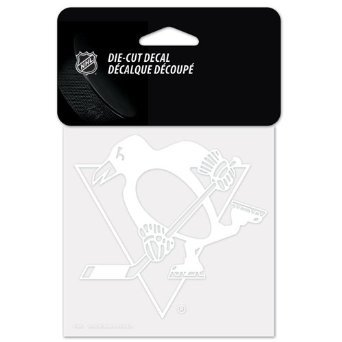 "Wincraft NHL Pittsburgh Penguins 42324010 Perfect Cut Decal, 4"" x 4"", White"