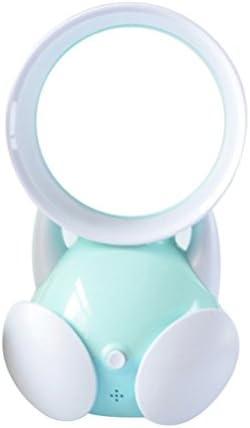 VORCOOL Mini Ventilatore Elettrico Senza Foglie Portatile USB Ventola da Tavolo per Bambini (Blu)