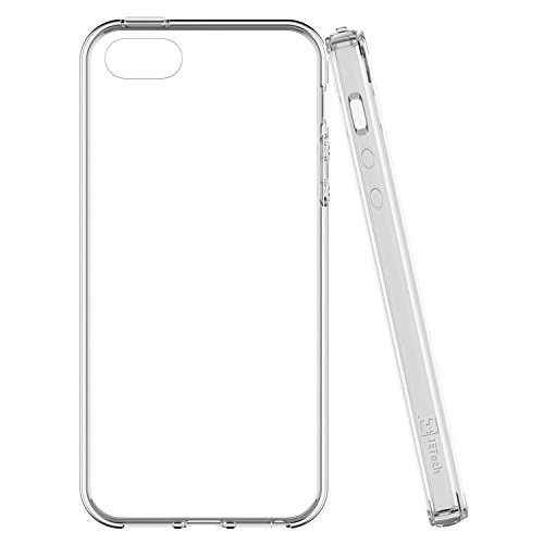 "VSHOP ® Coque iPhone 5/5s/SE (4 pouces) , Etui Ultra Mince Housse Silicone Transparent pour iPhone 5/5s/SE Coque de Protection en TPU avec Absorption de Choc Bumper et Anti-Scratch iPhone 5/5s/SE (4"")"