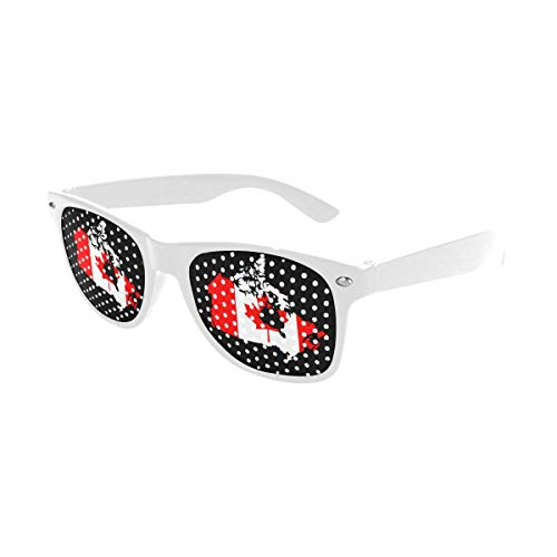 Canada Map Flag Custom Sunglasses Perforated Lenses