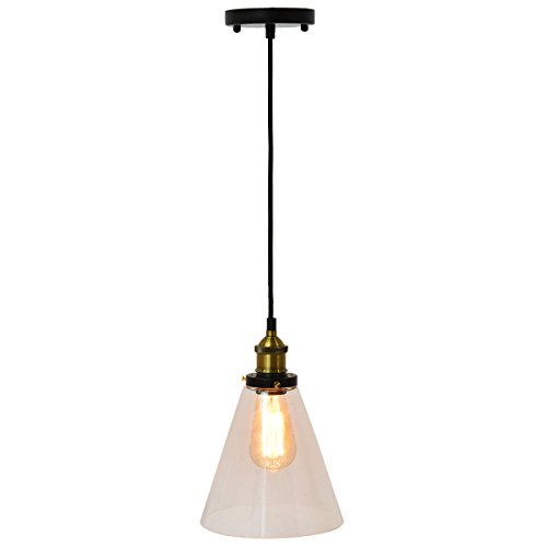 Iron And Glass Mount Ceiling Light With (Vintage Truss Rod)