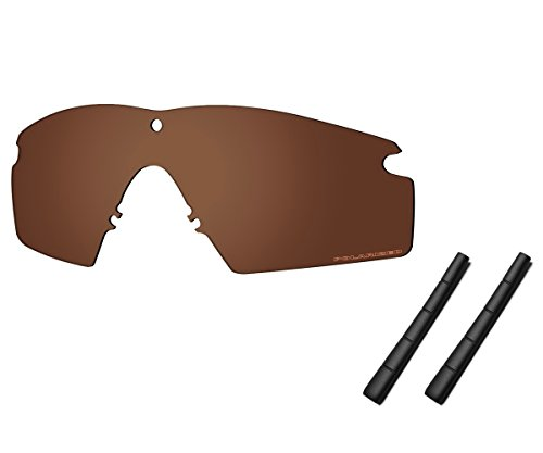 Saucer Premium Replacement Lenses & Rubber Kits for Oakley Si Ballistic M Frame 2.0 Sunglasses High Defense - Amber Brown Polarized