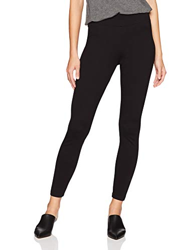 Daily Ritual Women's Ponte Knit Legging, Black, X-Large Short