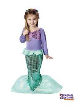 [Lil` Mermaid Toddler Costume] (Lil Mermaid Costumes Toddler)