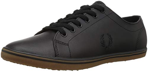 Fred Perry Men's Kingston Leather Sneaker, Black, 8 D UK (9 (Best Fred Perry Mens Sneakers)