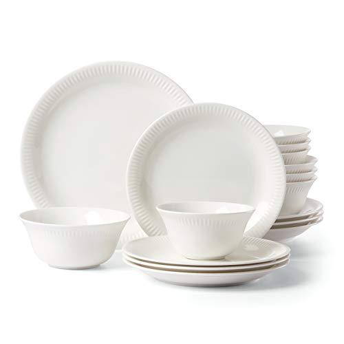 Lenox Profile 16-Piece Dinnerware Set, 18.35 LB, White