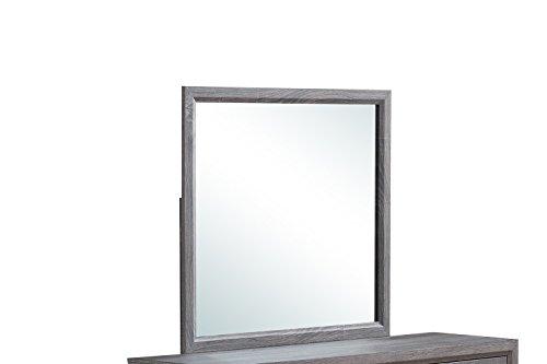 Global Furniture USA FOIL Grey-M Kate Mirror,