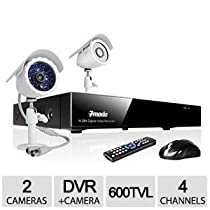 Zmodo D1 4 CH 2 CAM Complete DVR Security System