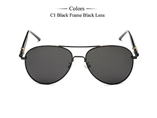 hombres Moda para de del TIANLIANG04 Frame polarizadas de Black gafas de Oculos Marco Gafas Sol hombres masculinos Gafas calidad sombras de sol de Alta bronce sol C1 Diseñador C3 Anteojos de ztqUtH