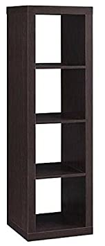 Officesaleman Better Homes and Gardens 4-Cube Organizer Storage Bookcase Bookshelf Espresso Espresso