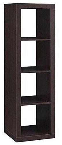 Officesaleman Better Homes and Gardens 4-Cube Organizer Storage Bookcase Bookshelf Espresso (Espresso) (4 Storage Cube Organizer)