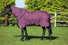 Berry with Grey White Chk & Berry 5'9\ Berry with Grey White Chk & Berry 5'9\ Horseware Rhino Plus with Vari-Layer 250g