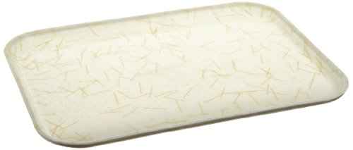 Natural Fiberglass Trays (Carlisle 1612DFG030 Fiberglass Glasteel Decorative Rectangular Tray, 16.37