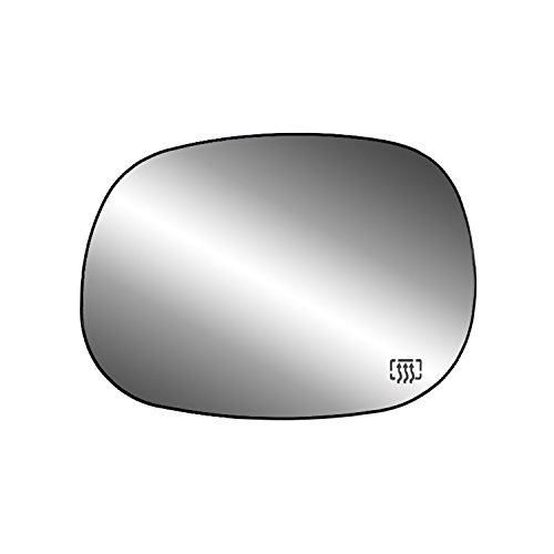 Fit System 33016 Driver Side Heated Replacement Mirror Glass with Backing Plate ()