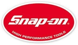 Snap on Tools Medium Oval Decal Red White