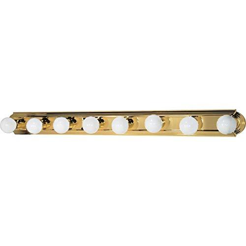 Nuvo Lighting 60/311 Eight Light Racetrack Vanity Polished Brass ()