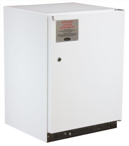 Marvel White Refrigerator - Marvel Scientific 6ERF0001 Hazardous Location Combination Refrigerator/Freezer with Right Hinge Door, 24-Inch, White