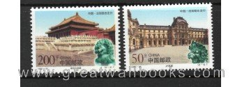 China Stamps - 1998-20 , Scott 2895-96 The Palace Museum and Louvre, complete set, MNH, (Postage Stamp Museum)
