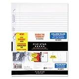 Mead Flex Reinforced Filler Paper, 20lb, CR, 100Shts/PK, White