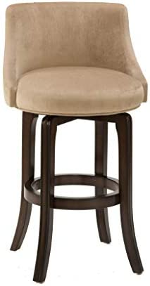 Hillsdale Furniture Napa Valley Upholstered Swivel Bar Stool, Khaki