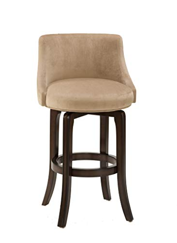 Hillsdale Furniture 4294-828I Napa Valley Upholstered Swivel Counter Stool Height, Khaki