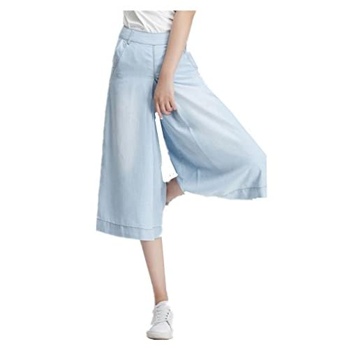 8a4981a9eeb Skirt BL Women s Plus Size Wide Leg Bootcut Capri Palazzo Jean Pants Suits  60%OFF