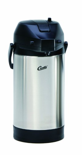Wilbur Curtis Thermal Dispenser Air Pot, 2.5L S.S. Body S.S. Liner Lever Pump - Commercial Airpot Pourpot Beverage
