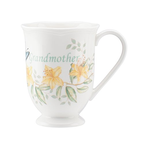 (Lenox Butterfly Meadow Grandmother Mug, White)