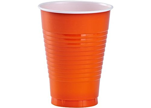 Eros Hosiery Company KIN89832 Orange 12oz Plastic Cups by Party Dimensions - Case of 24 by Eros Hosiery