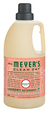 Mrs Meyers Clean Day 2X Geranium Laundry Detergent, 64 Ounce -- 6 per case. by Mrs. Meyer's Clean Day