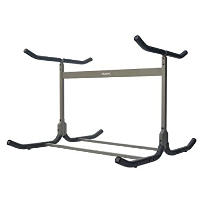 Stoneman Sports G-505 Glacik Freestanding Triple Kayak or Canoe Storage Rack, Double Sided, Bronze Finish