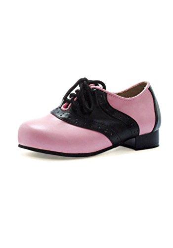 Ellie Shoes 1 inch Heel Women Saddle Shoe (Black/Pink;7) by Ellie Shoes
