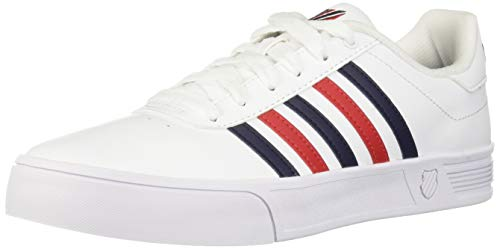 K-Swiss Men's Court Lite Stripes Sneaker White/Corporate for sale  Delivered anywhere in Canada
