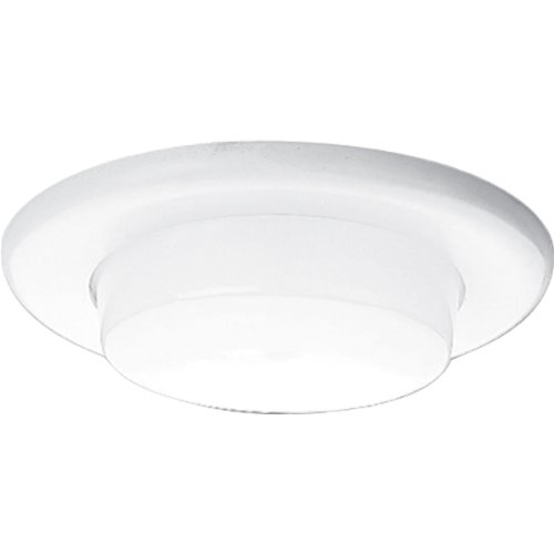 (Progress Lighting P8009-60 Drop Opal Shower For Insulated Ceilings Wet Location Listed Non-Metallic Flange 7-3/4-Inch Outside Diameter, White)