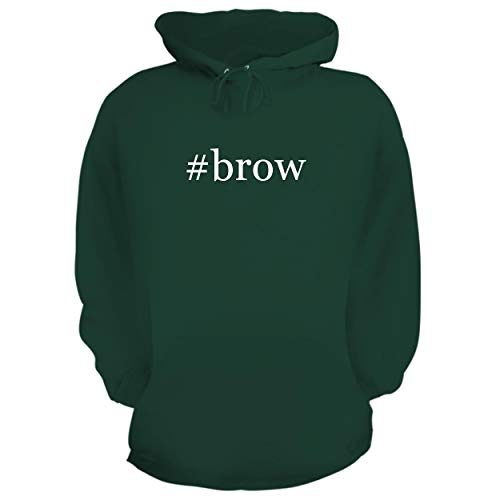 BH Cool Designs #brow - Graphic Hoodie Sweatshirt, Forest, Medium
