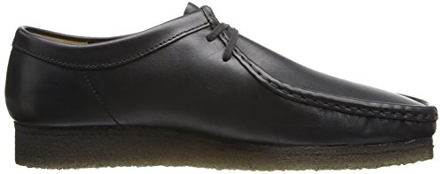 Clarks Hombres Wallabee Shoe Black Leather
