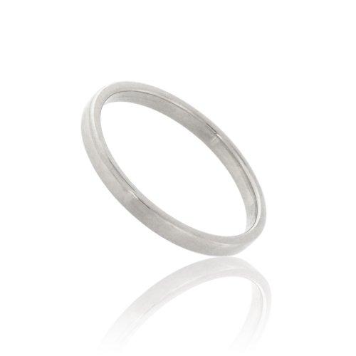Tous mes bijoux - CDMC586 - Alliance Femme - Or blanc 375/1000 1.6 gr - Ruban - 2 mm